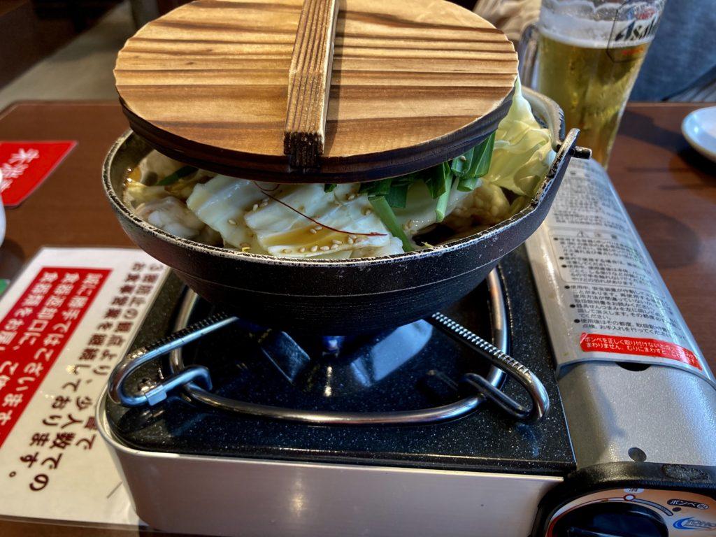 軽キャンピングトレーラーの幌馬車くんで行く三島の日帰り温泉施設「極楽湯」でもつ鍋