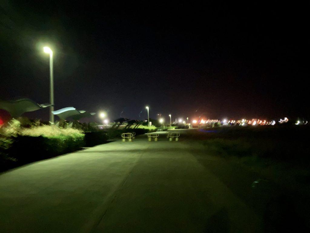 大洗サンビーチ駐車場に泊まる時の日帰り温泉施設「潮騒の湯」までの道