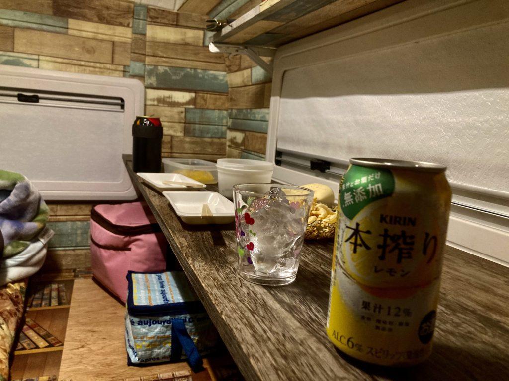 幌馬車くんと行く軽キャンピングトレーラー車中泊で道の駅「宇都宮ろまんちっく村」で室内のみ
