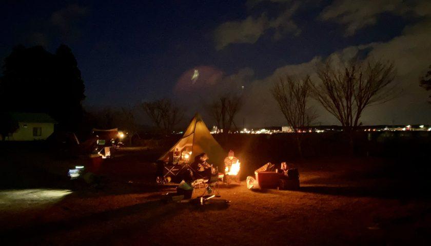 幌馬車くんと行く軽キャンピングトレーラー車中泊で矢坂城の湯キャンプ場