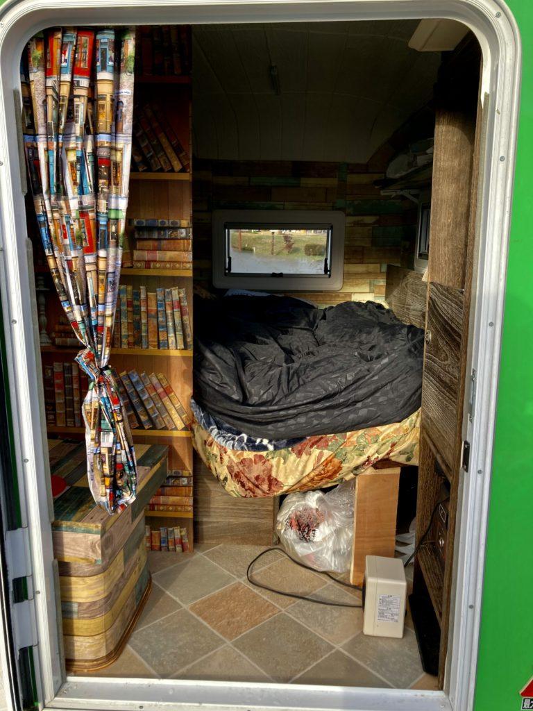 幌馬車くんと行く軽キャンピングトレーラー車中泊で矢板城の湯RVパークでセラミックヒーターを使う