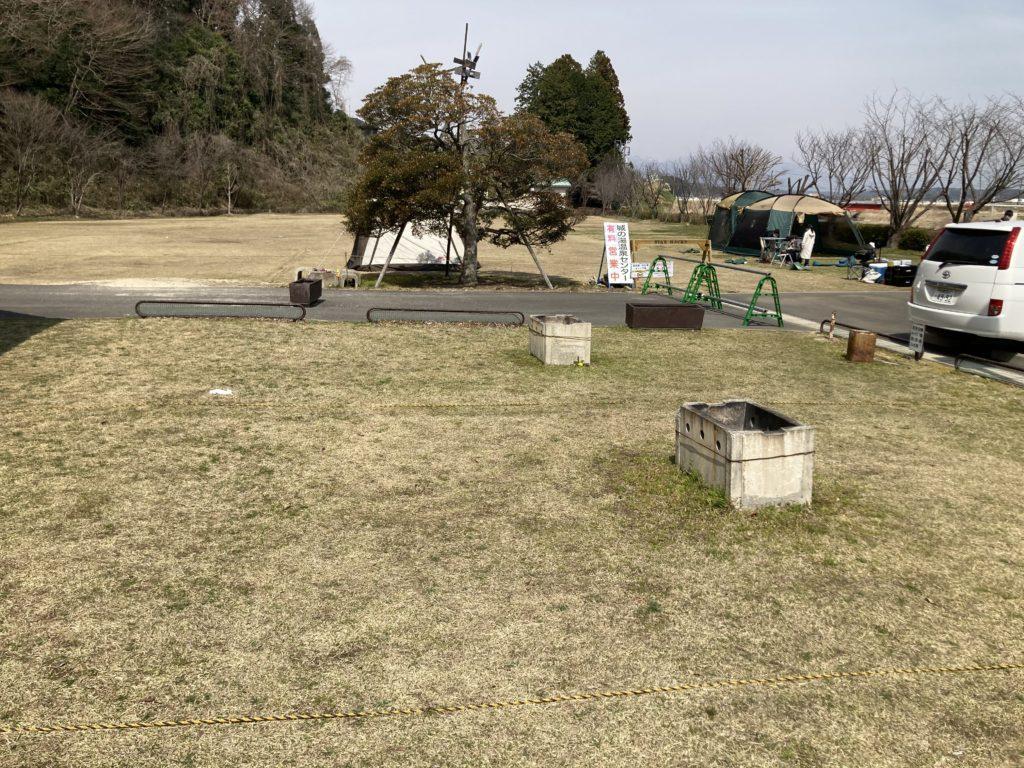 幌馬車くんと行く軽キャンピングトレーラー車中泊で矢坂城の湯RVパーク&バーベキュー場