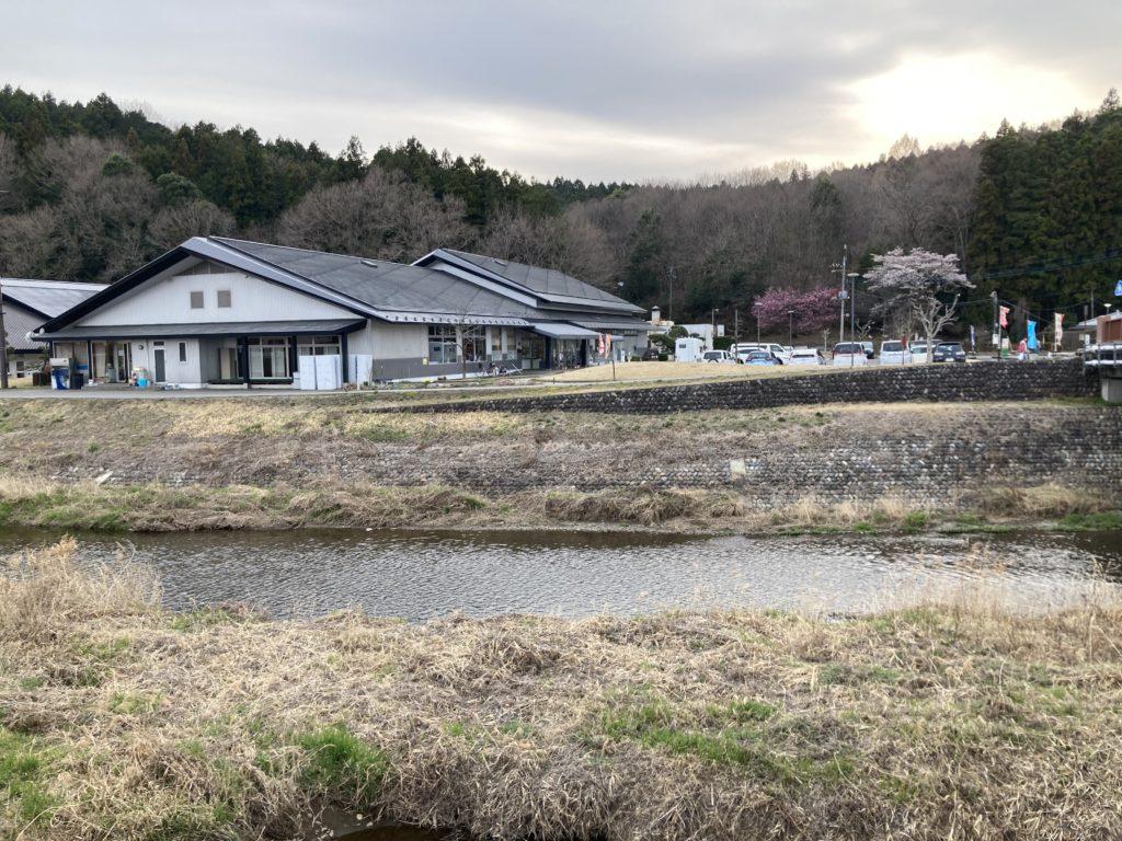 幌馬車くんと行く軽キャンピングトレーラー車中泊で矢坂城の湯温泉センター