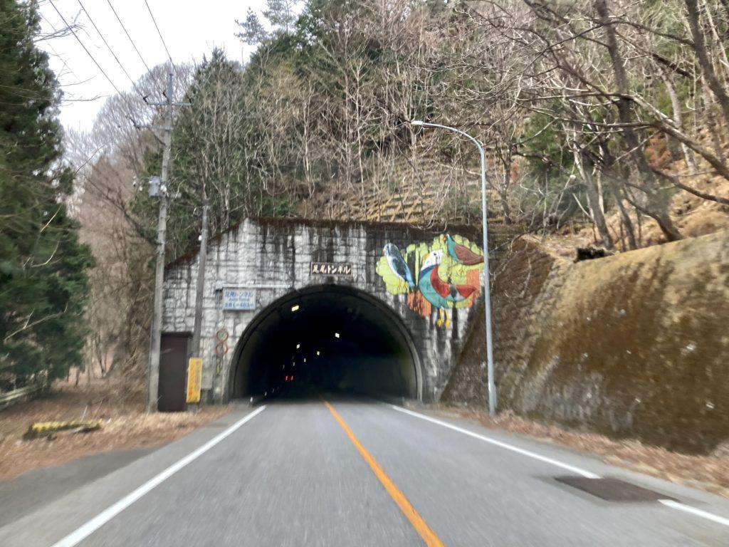 幌馬車くんと行く軽キャンピングトレーラー車中泊で3月下旬の足尾トンネル(残雪は無し)