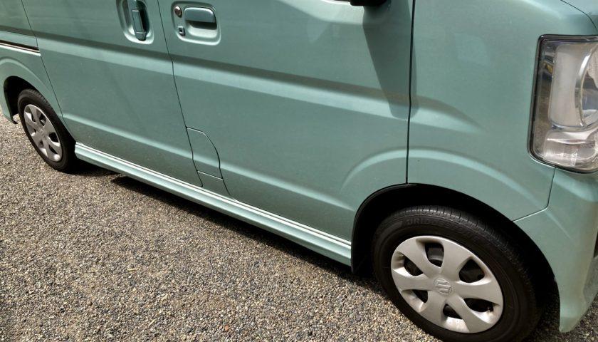 エブリイワゴンの冬タイヤ(スタッドレスタイヤ)から夏タイヤに交換
