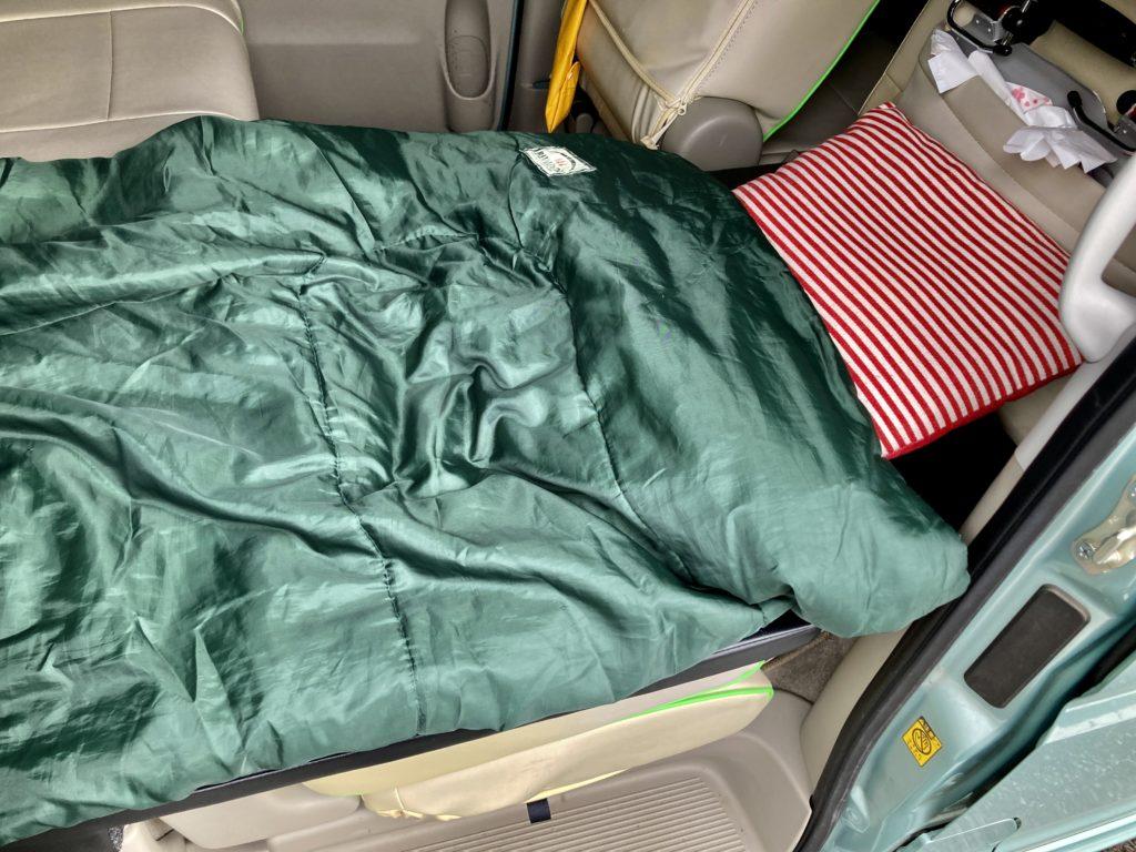 碓氷峠の日帰り温泉施設「峠の湯」エブリィワゴンで車中泊のベッド