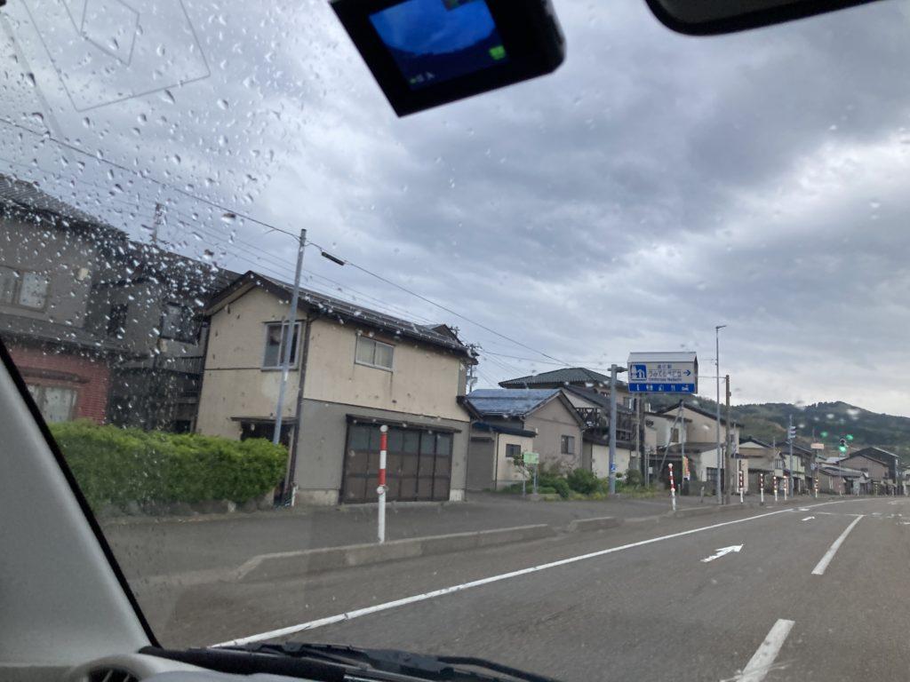 道の駅「うみてらす名立」幌馬車くんの軽キャンピングトレーラー車中泊