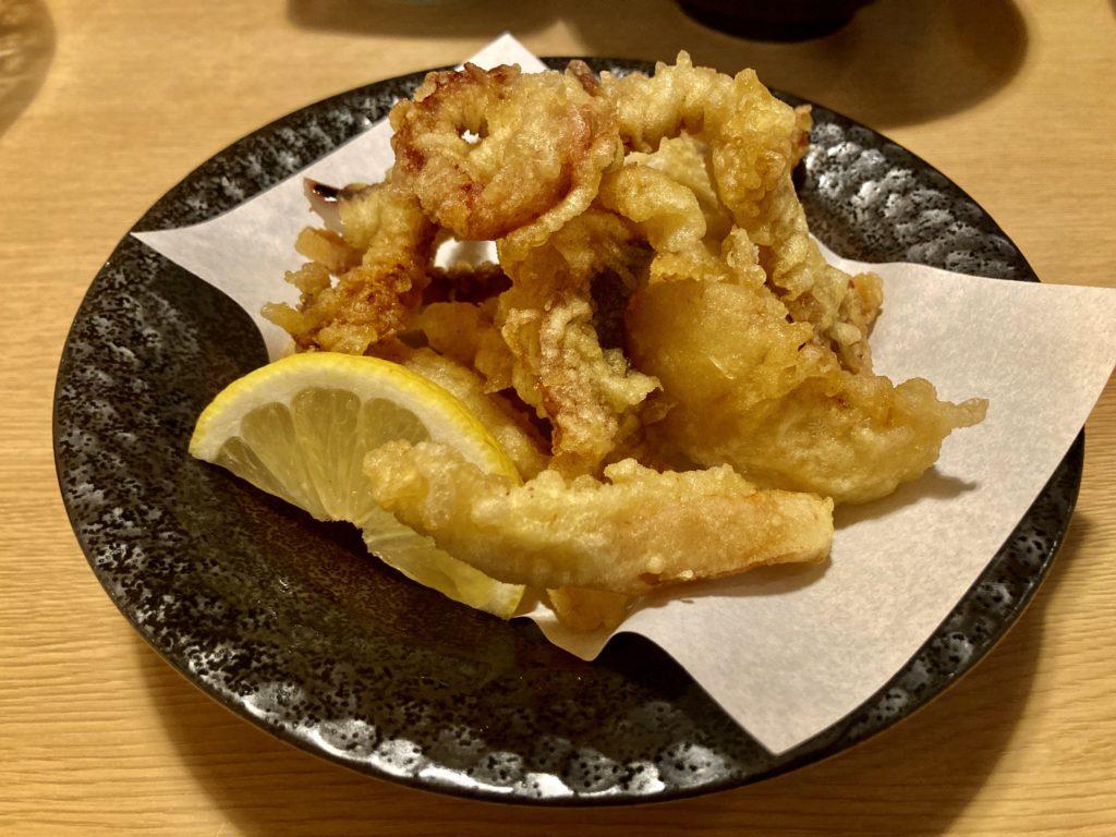 道の駅「うみてらす名立」のレストラン「海のだいどころや」のするめいかの揚げ物