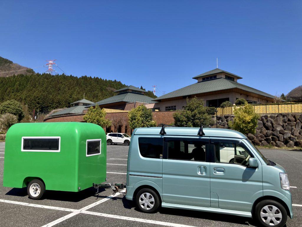 幌馬車くんで行く碓氷峠の森公園交流館「峠の湯」車中泊で駐車場に到着しました