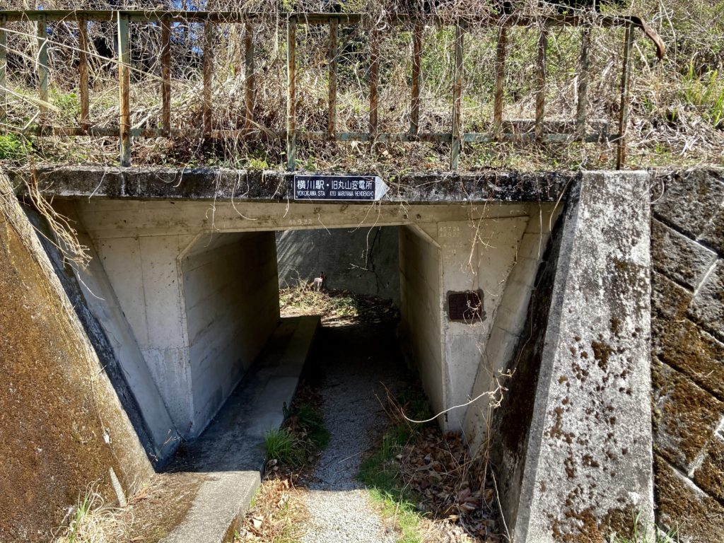 碓氷峠の森公園交流館「峠の湯」から鉄道文化むらまでのアプトの道ハイキングのトロッコ列車下の道