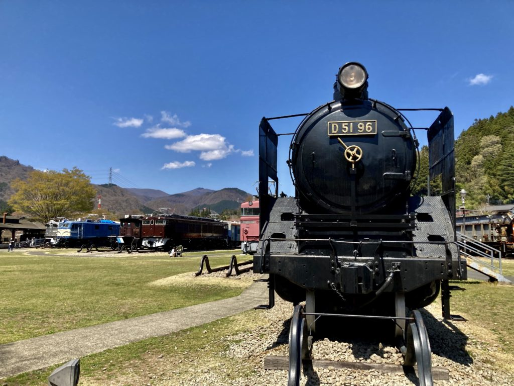 鉄道文化むらの鉄道の野外展示