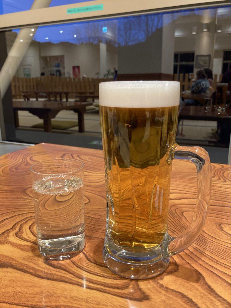 碓氷峠の森公園交流館「峠の湯」で日帰り温泉利用とレストランでビールと日本酒後に車中泊