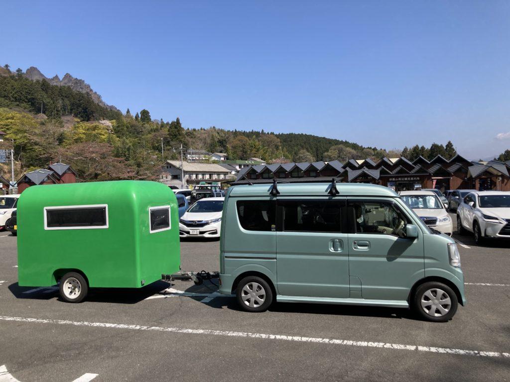 幌馬車くんで行く道の駅「みょうぎ」と妙義神社で道の駅の駐車場