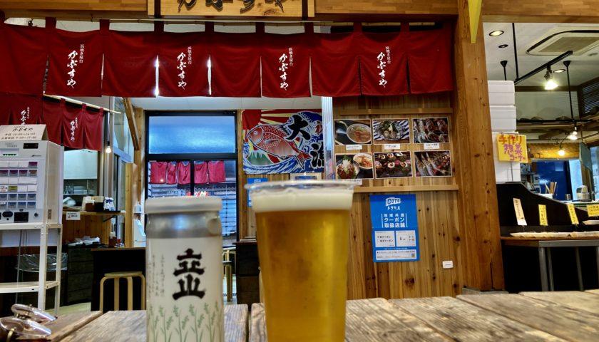 道の駅「氷見番屋街」幌馬車くんの軽キャンピングトレーラー車中泊