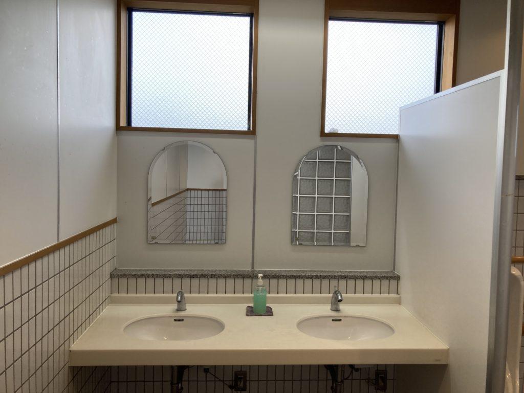 道の駅「氷見番屋街」の24時間トイレの洗面台