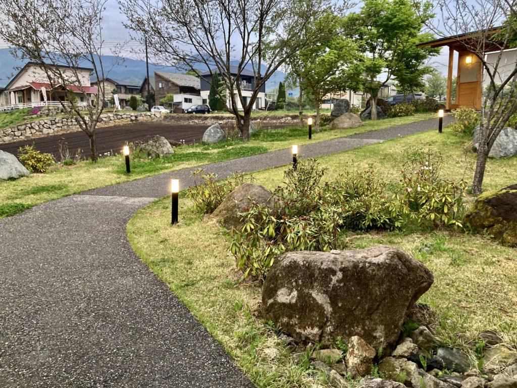 道の駅「川場田園プラザ」の夕方