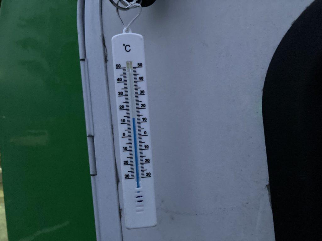 道の駅「川場田園プラザ」軽キャンピングトレーラの幌馬車くんで車中泊のゴールデンウイークの気温