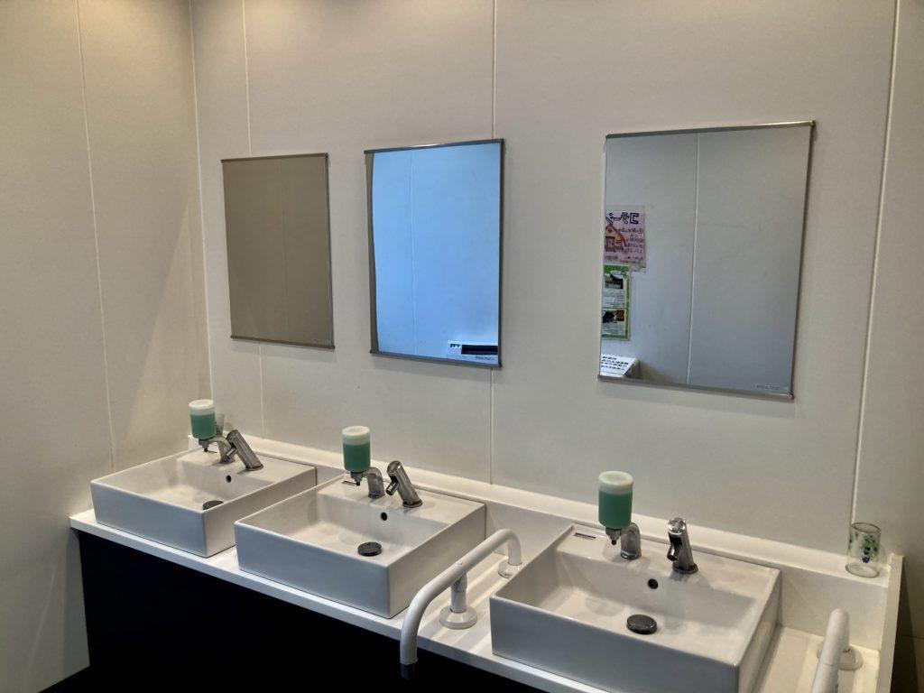道の駅「中山盆地」トイレ棟の洗面所