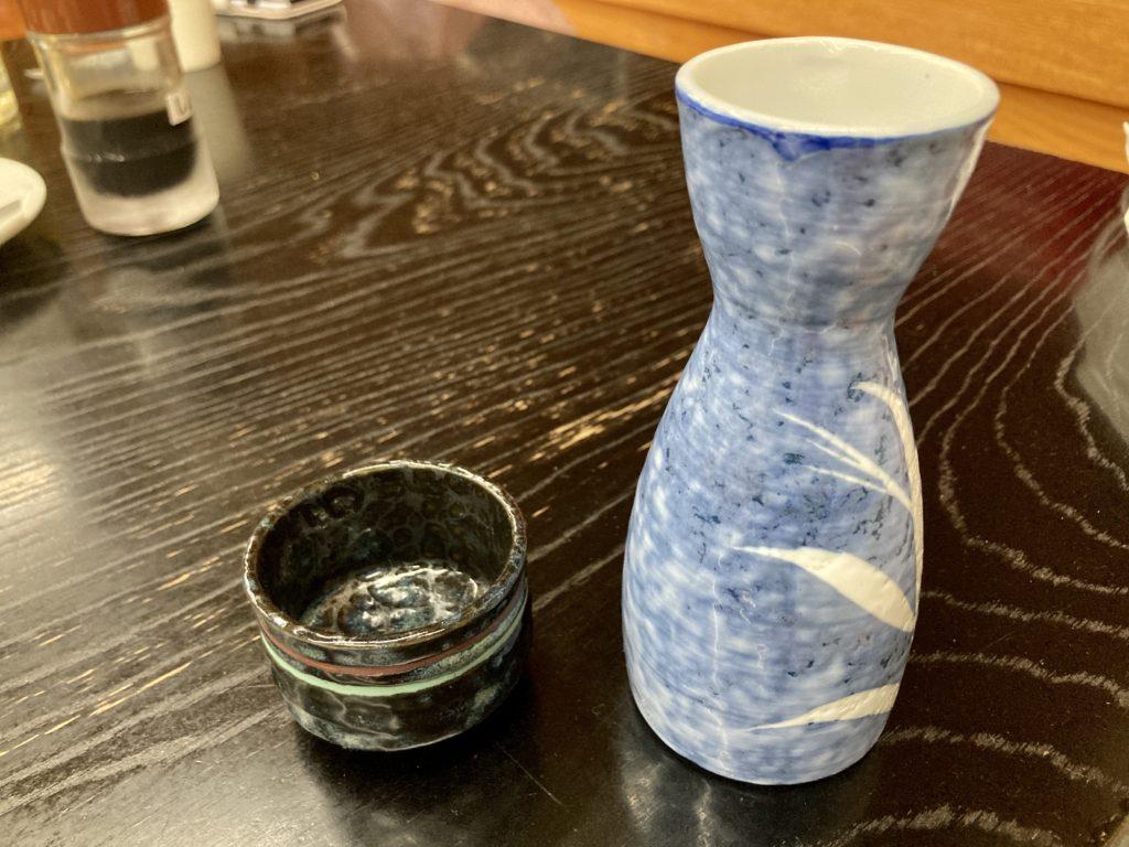 道の駅「中山盆地」の日帰り温泉施設「ふれあいプラザ」のレストランで日本酒