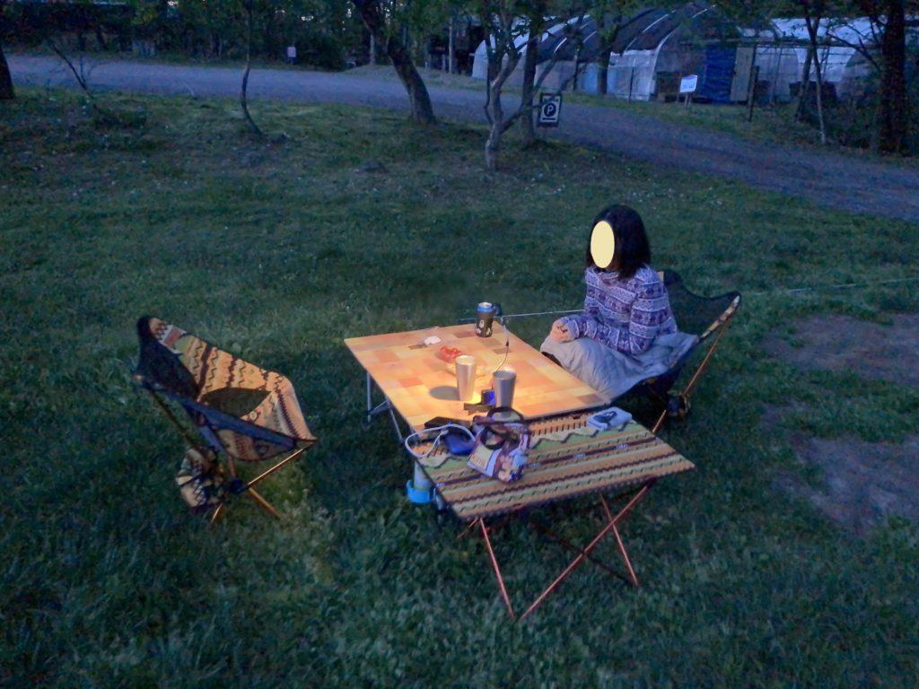 幌馬車くんと行く北軽井沢スウィートグラスの軽キャンピングトレーラのキャンプ