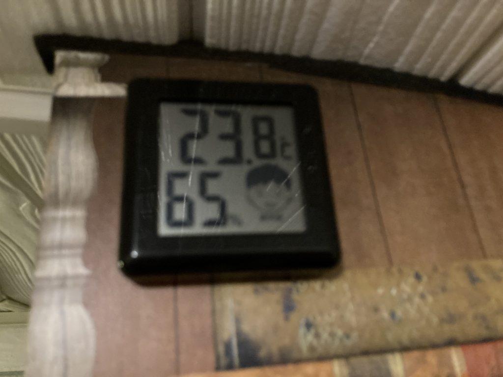 幌馬車くんと行く道の駅「よしおか温泉」の軽キャンピングトレーラ車中泊で6月の気温