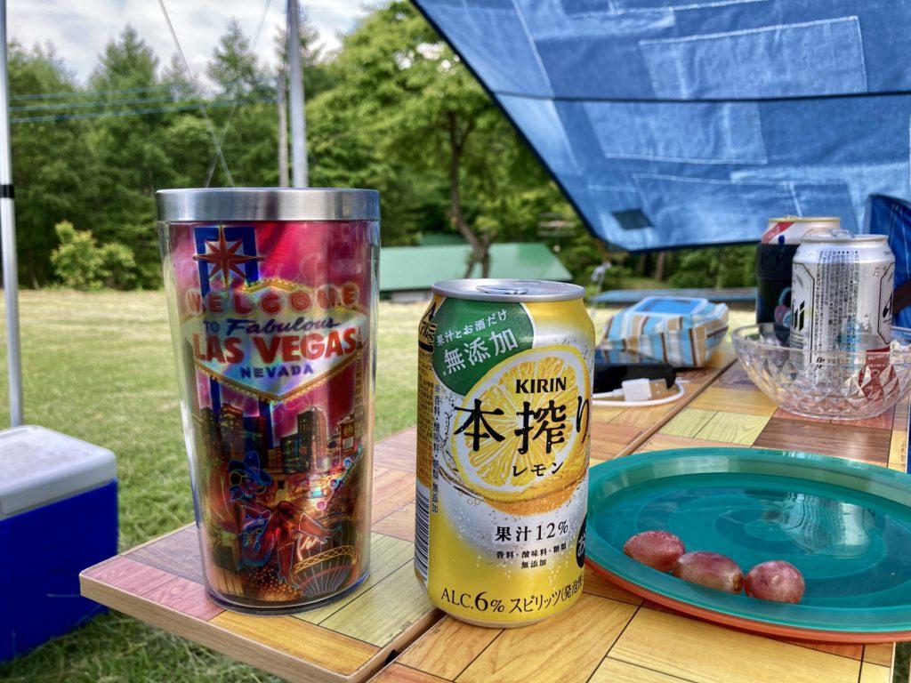 北軽井沢オートキャンプ場「きたかる」でキャンプ飲み
