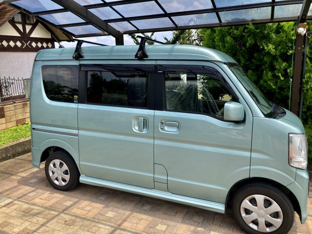 草津温泉「湯畑観光駐車場」エブリィワゴンの車中泊