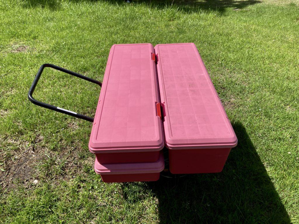 湯の湖 日光湯元キャンプ場の小さいリヤカーにRVBOXを積んでみた