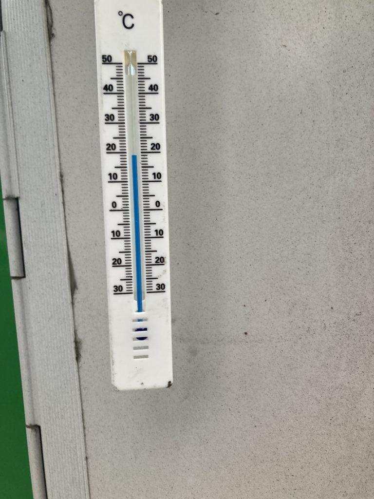 湯の湖 日光湯元キャンプ場の7月の夕方の気温は19℃