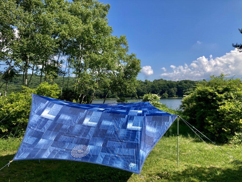 バラキ高原キャンプ場の湖畔キャンプ