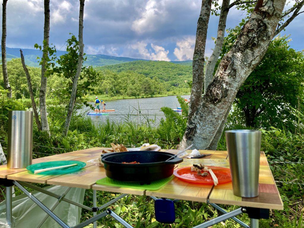 嬬恋のバラキ高原キャンプ場で湖畔を見ながらキャンプ