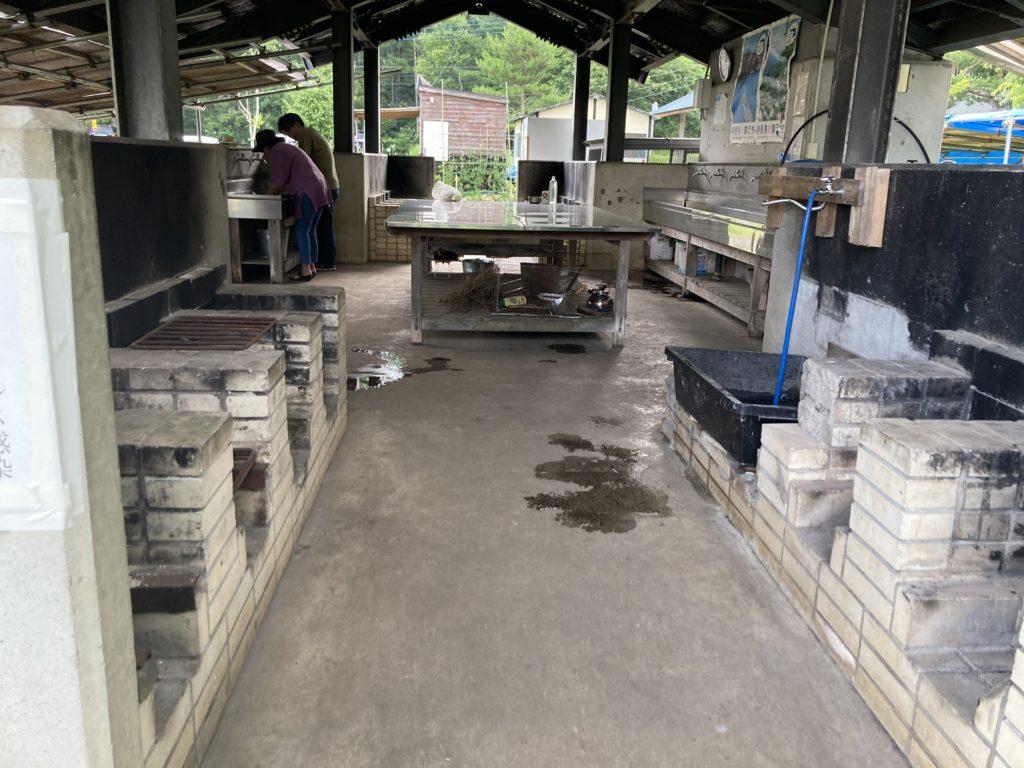 バラキ高原キャンプ場の炊事場