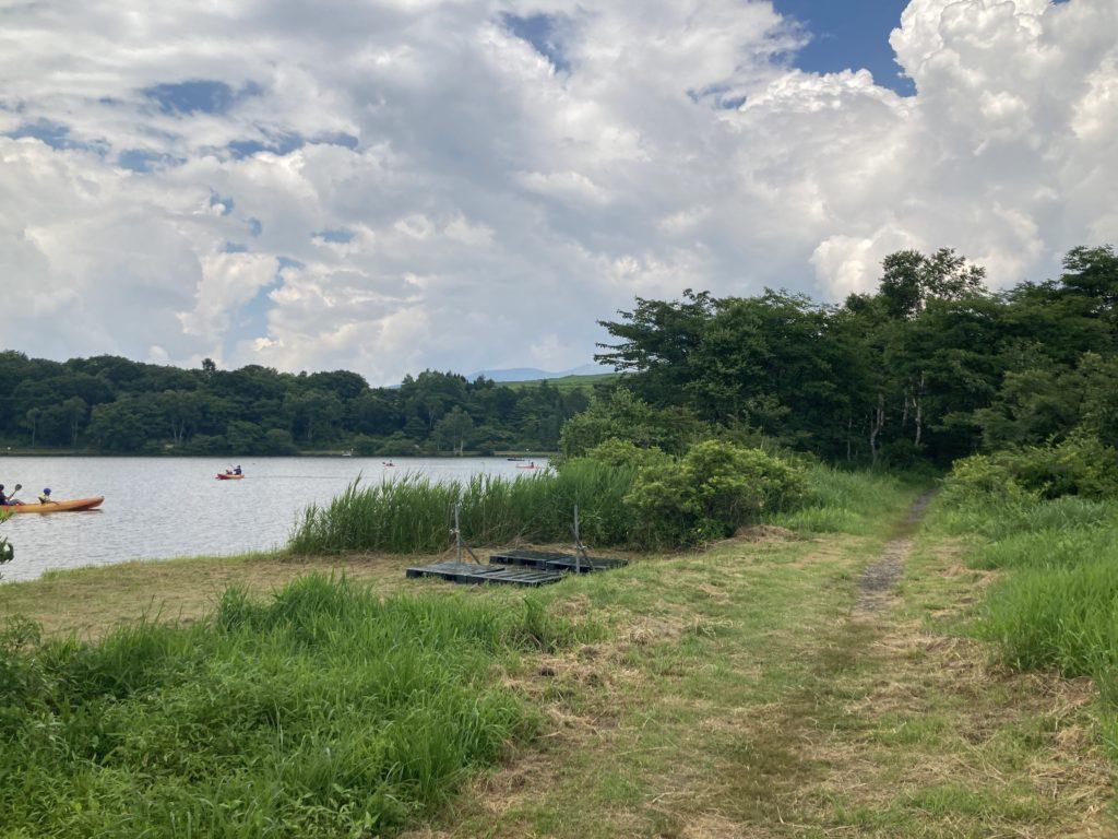 バラキ高原キャンプ場からエサ釣りの会場までの道のり