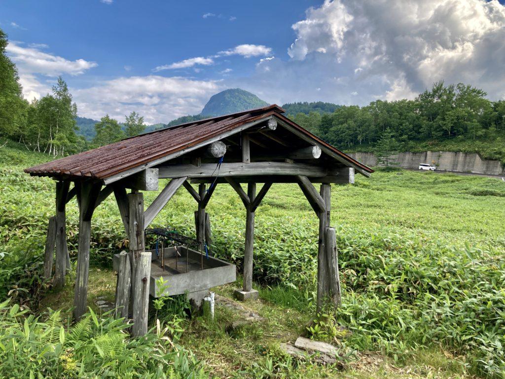 志賀高原の木戸池キャンプ場の水場