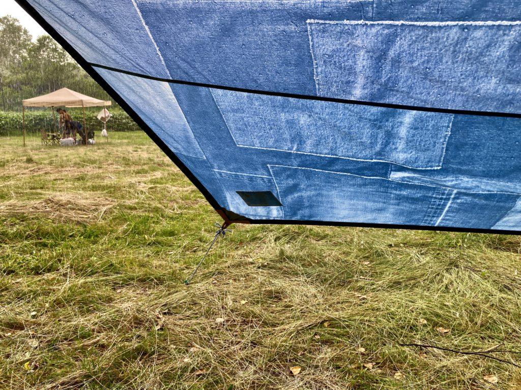 志賀高原の木戸池キャンプ場で突然の雨