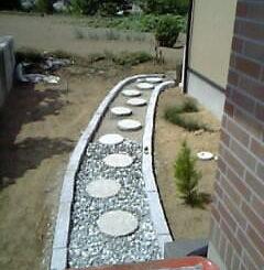 日本庭と飛石