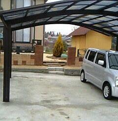 駐車場のコンクリート土間