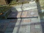 インターロックの階段施工