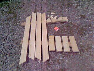 物置の木材