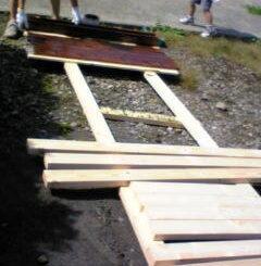 犬小屋木材塗装