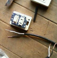 犬小屋の電源スイッチ