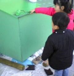 ダストボックスの自作と塗装