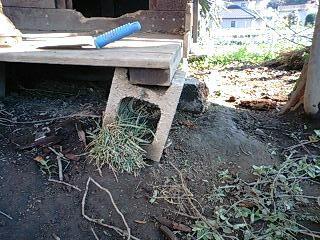 犬小屋の土台