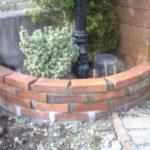 門柱の花壇のレンガ積み自作