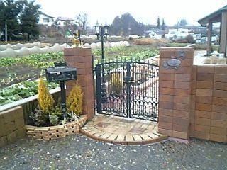 門と花壇の自作