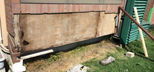 外壁のレンガの取り付け自作